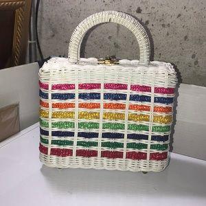 Vintage handbag- multi color- SUPER CUTE